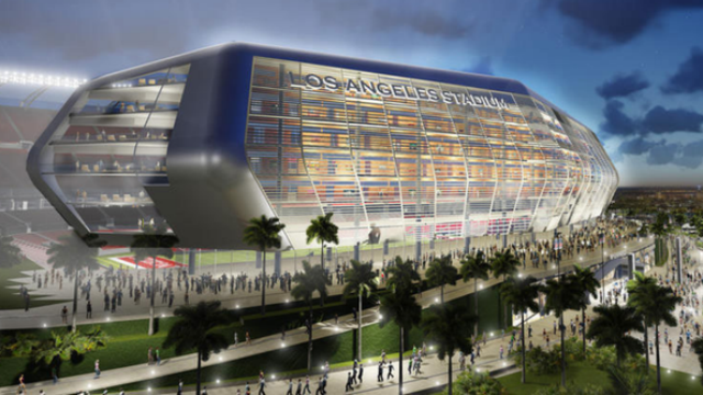 Artist's rendering of a proposed football stadium in Carson. Image via Twitter