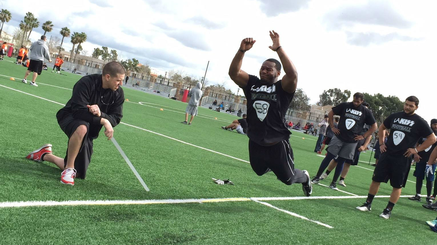 76 attended la kiss final open tryout at santa ana college