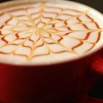 Coffee with coffeehouse foam design