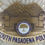 a south Pasadena police badge.
