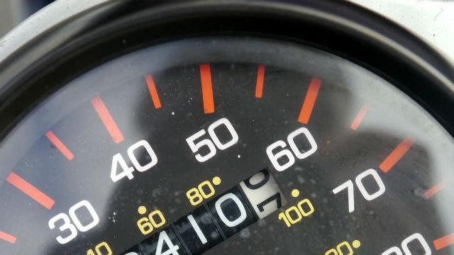 a car speedometer