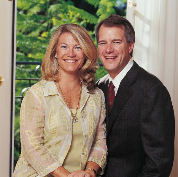 Mark and Mary Stevens. Photo courtesy USC Media Relations.