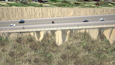 An artist's rendering of the rebuilt California Incline. Photo courtesy of the city of Santa Monica