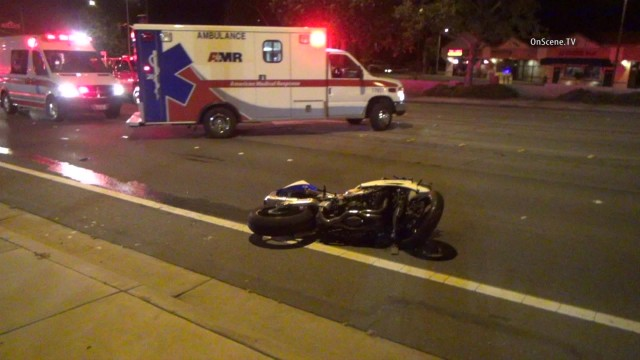 Example of motorcycle crash not related to incidents in story. Photo courtesy OnScene.TV.