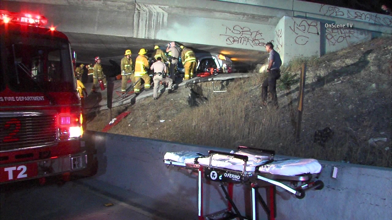 Man dies when out-of-control SUV is crushed under freeway