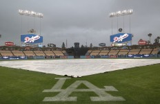 Dodgers rained out