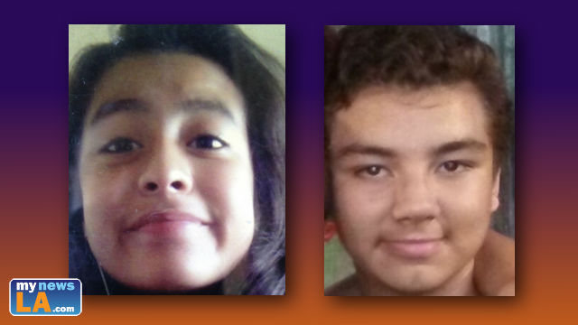 Ashley Montes, 12, and Timothy Jacob Reed, 14, went missing from Mark Twain Middle School on Saturday. Photo courtesy of LAPD