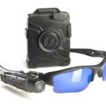a police body camera and camera mounted sunglasses