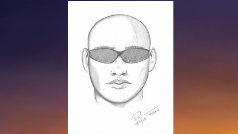 Attempt Child Abduction suspect. Suspect sketch courtesy OCSD.