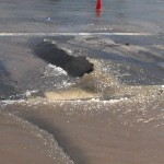 a water main break