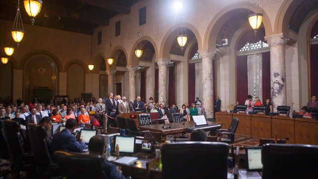 Los Angeles City Council. Photo by MyNewsLA.com