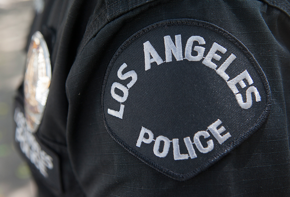LAPD patch and badge