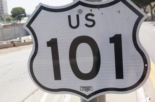 A 101 Freeway sign. File photo.
