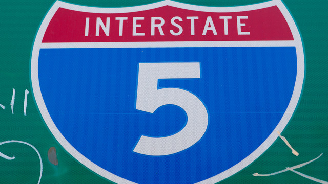 the freeway sign for interstate 5
