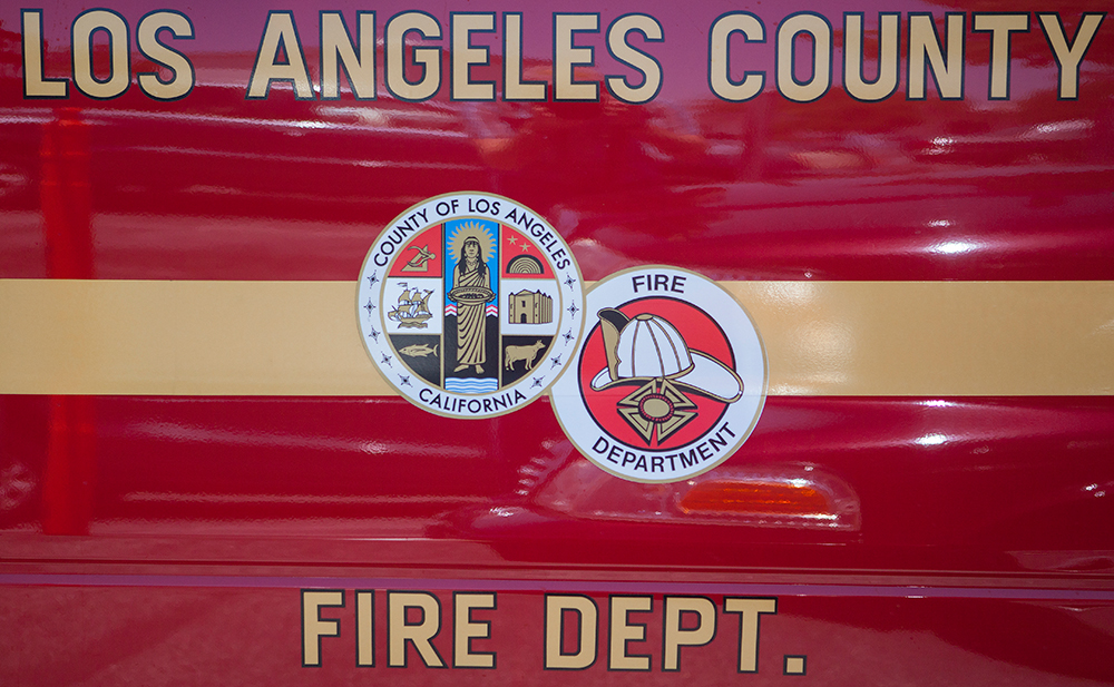 Los Angeles County Fire Department. Photo by MyNewsLA.com