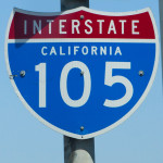 a 105 freeway sign