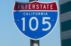 a 105 freeway sign