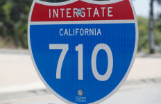 A 710 freeway marker sign