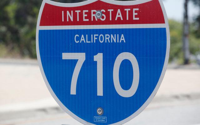 A 710 freeway marker sign