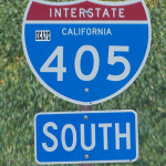 A 405 Freeway sign. Photo from MyNewsLA.com