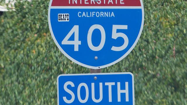 A 405 Freeway sign. Photo from MyNewsLA.com
