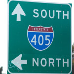A 405 Freeway ramp sign. MyNewsLA.com photo