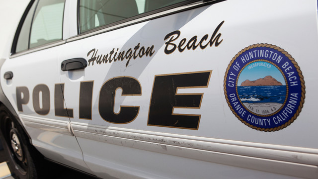 A Huntington Beach Police Department vehicle. MyNewsLA.com Photo