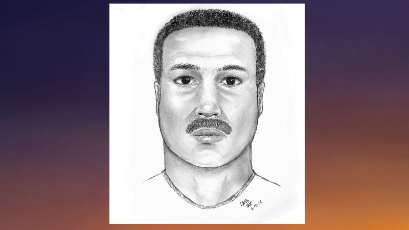 Suspect Sketch courtesy  Carson Station, Los Angeles County Sheriff's Department.