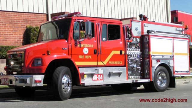 Montebello Fire Department rig. Image via code2high.com