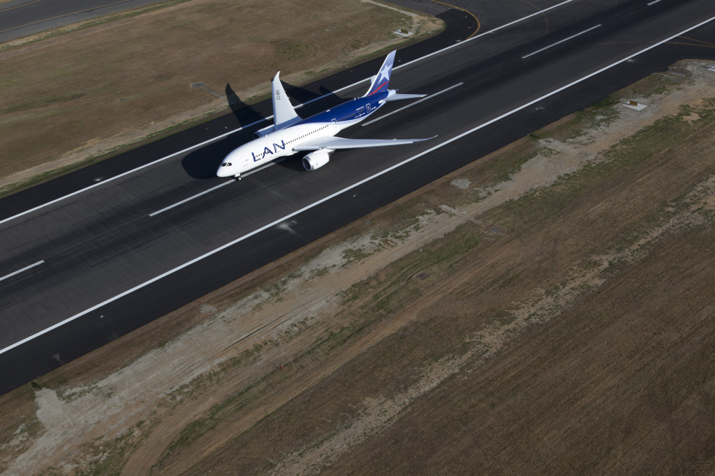 LAN Boeing 787. Courtesy photo