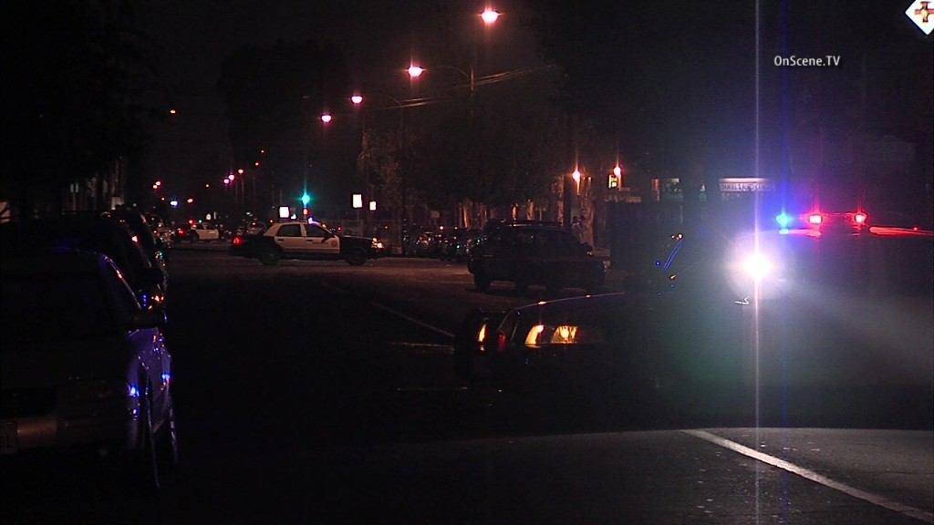 A possibly armed man is in a standoff with police inside a La Puente condo garage. Photo courtesy of OnSceneTV