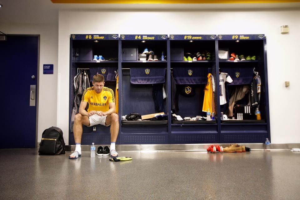 Steven Gerard preparing for Saturday's match against Mexico's Club America. Photo courtesy of L.A. Galaxy