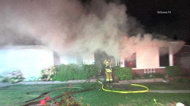 6 fire victims hospitalized as blaze roars in garden grove home Garden grove breaking news now