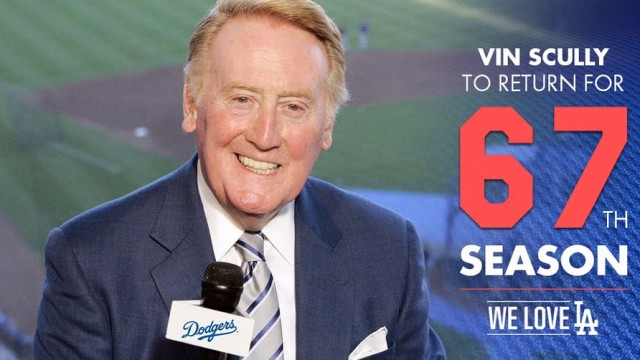 Vin Scully. Photo courtesy of the Los Angeles Dodgers