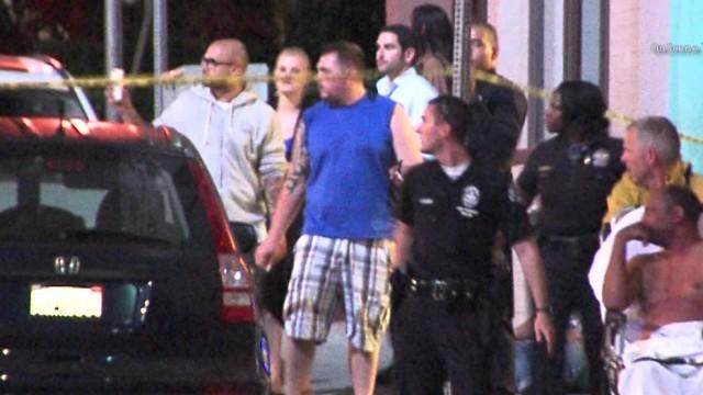 Los Angeles Police at the crime scene in Venice. Courtesy of OnScene.TV