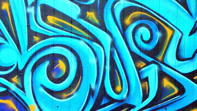 Example of graffiti, but not graffiti in neighbor's murder. Photo via Pixabay