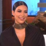 Kim Kardashian on the Ellen DeGeneres show.