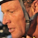 Lance Armstrong at Coronado triathlon in 2012.