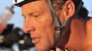 Lance Armstrong at Coronado triathlon in 2012.