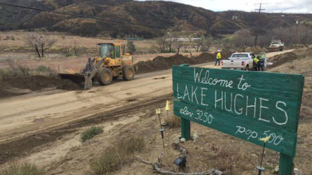 Several roads were reopened  Sunday following a mudslide after the Oct. storm. Photo courtesy of the  Los Angeles County Department of Public Works