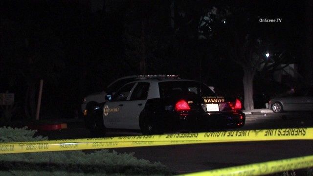 A sheriff's cruiser at the scene of the Marina Del Rey shooting. Courtesy of OnScene.TV
