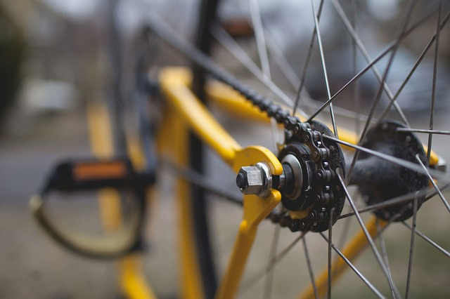 bicycle spokes and gears