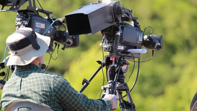 A film/TV camera on the set. Photo via Pixabay.