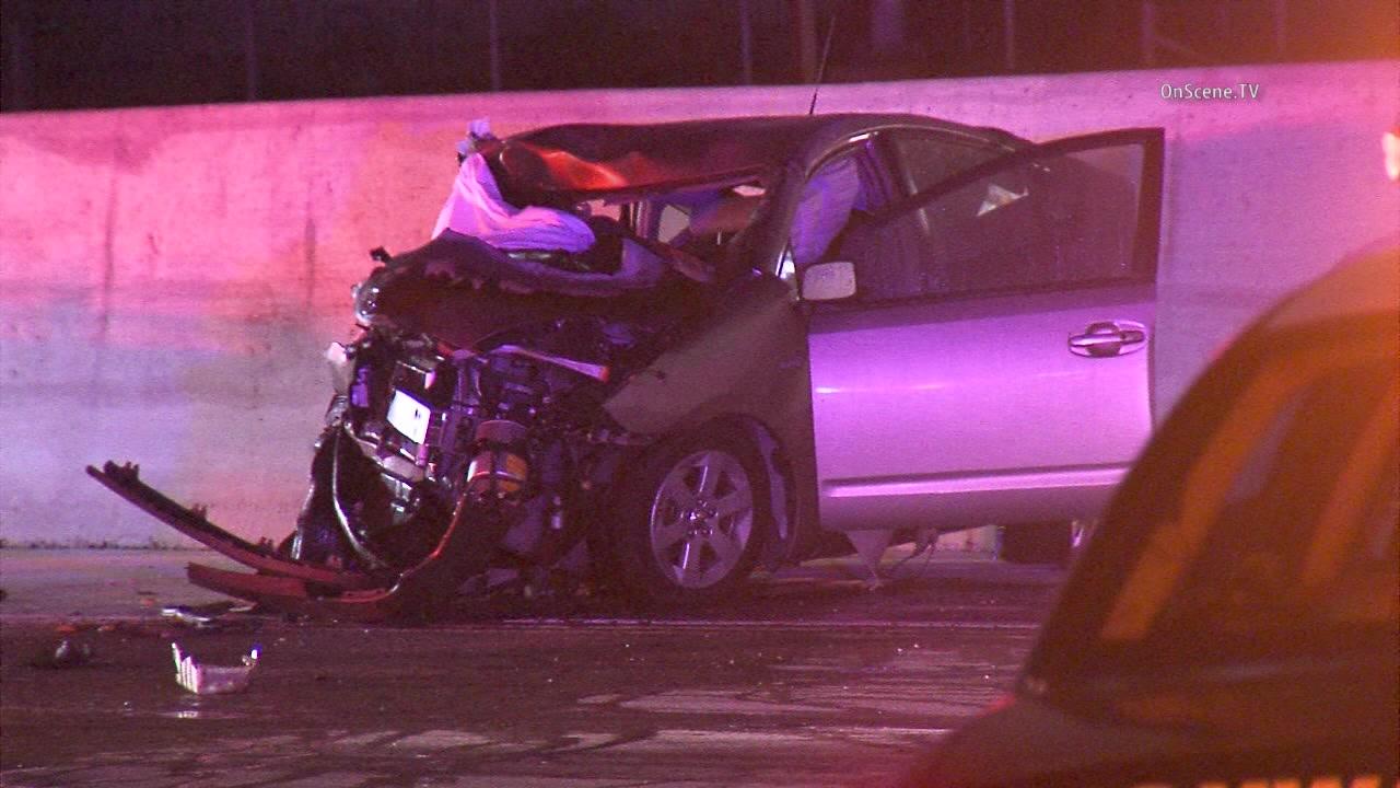 Woman killed in multi-crash on 91 Freeway in Carson