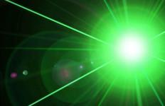 a laser beam