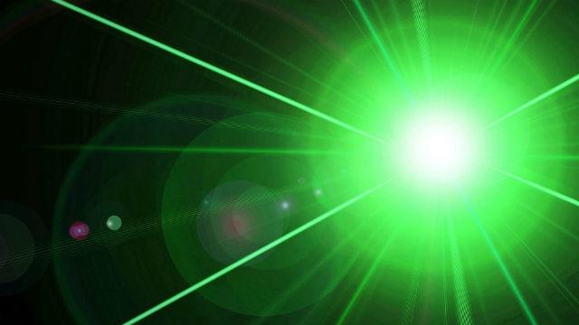 A laser beam. Photo via Pixabay