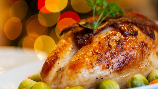 A turkey dinner is the typical meal served at Thanksgiving.