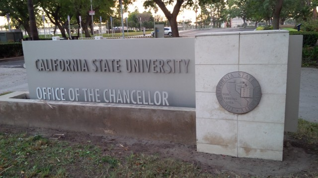 California State University Office of the Chancellor in Long Beach, Calif. File Photo.