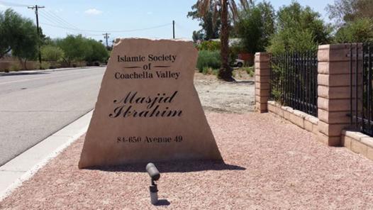 Islamic Society of Coachella Valley marker. Photo via lberalamerica.org