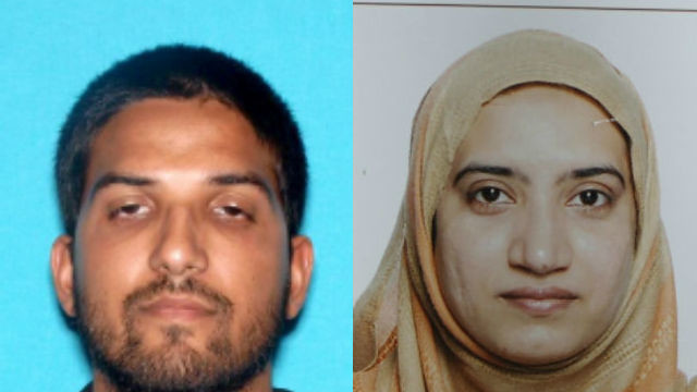 The San Bernardino killer terrorists Syed Rizwan Farook (left) and Tashfeen Malik. FBI photos